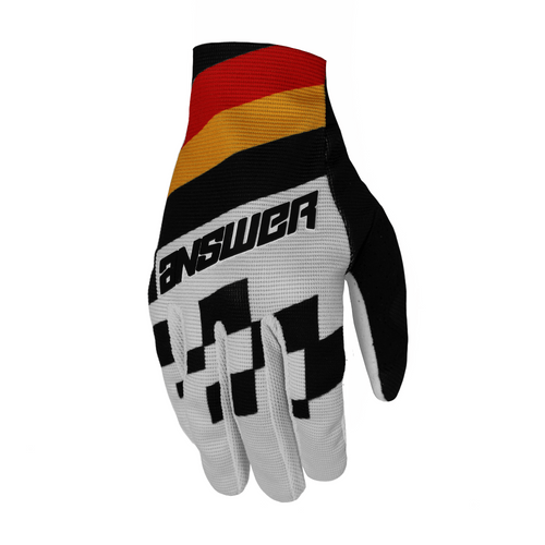 Guantes Answer Ar2 Korza) - Black/Red/Bus